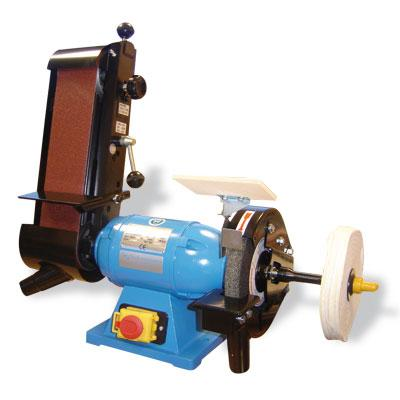 Tech machines bgc 200 touret meuler conbin bande 100 mm meule polissoir - Touret a bande ...